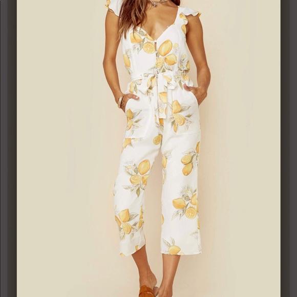 For Love And Lemons Pants Limonada Jumpsuit Poshmark